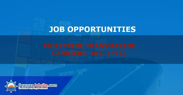Featured image for Job opportunities PHILIPPINE TRANSMARINE CARRIERS, INC. (PTC)